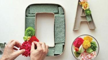 Çiçeklerden Harfli Duvar Süsü Yapımı