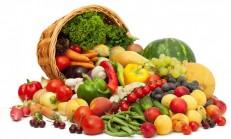 Sebze ve Meyve Diyet Listesi